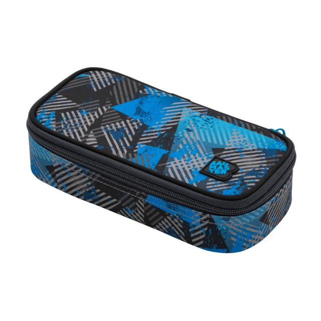 Studentský penál BAGMASTER CASE BAG 20 D BLUE/GRAY/BLACK