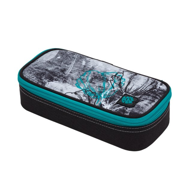 Studentský penál BAGMASTER CASE DIGITAL 20 B TURQUOISE/GRAY/BLACK