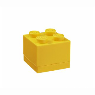 LEGO mini box 4 46 x 46 x 43 mm - žlutá